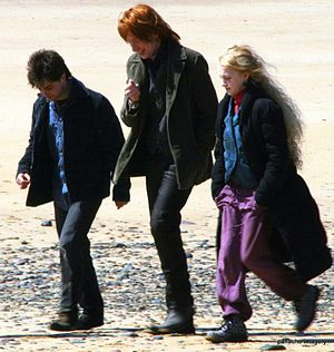 Daniel Radcliffe, Domhnall Gleeson and Evanna ...