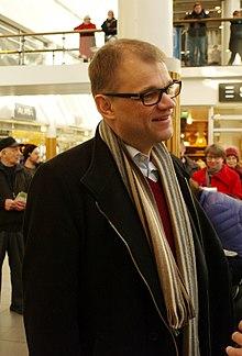 Juha Sipilä in Vaasa, 2015