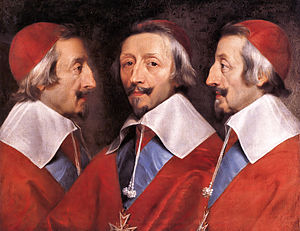English: Triple Portrait of Cardinal de Richel...