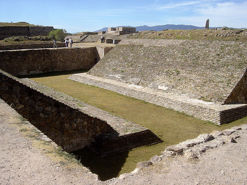 ball court in monte alban