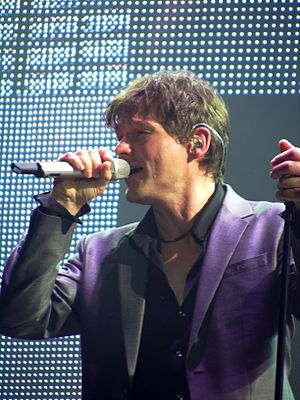 Morten Harket, singer of A-Ha, performing live...