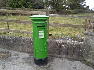 English: Postbox, Drumree, Co Meath An Irish p...