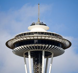 English: The top of the Space Needle in Seattl...