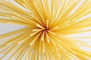 Spaghetti spiral splayed.