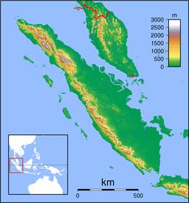 Gunung Kerinci terletak di Sumatra Topography