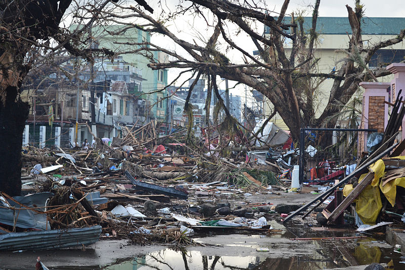 Tacloban City after the passage of Typhoon Haiyan (Yolanda)