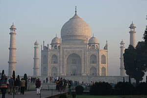 The Taj Mahal in the morning, Agra, Uttar Prad...