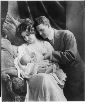 Young couple with baby.