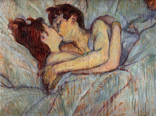 Toulouse Lautrec In bed the kiss