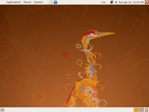 Screenshot of Ubuntu 8.04.