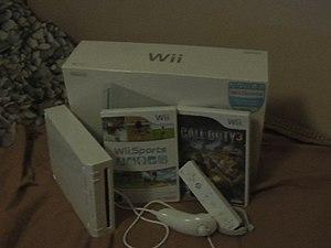 Finnish Nintendo Wii box, the console, Nunchuk...