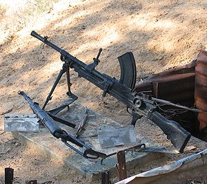 Bren light machine gun at Yad Mordechai battle...