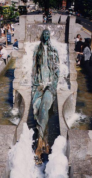 Anna Livia Plurabelle, representation of River...