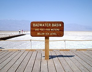 The Badwater Basin in Death Valley, California...