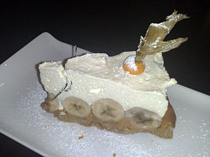 Banoffee pie at A Room In Leith restaurant, Ed...