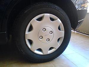 Calota (hubcap) plástica de pneu aro 14