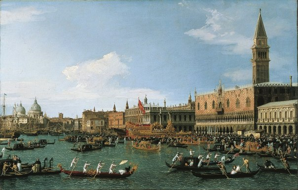 Canaletto - Return of 'Il Bucintoro' on Ascension Day - Google Art Project