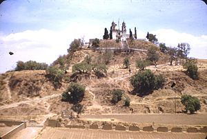 Church and Great Pyramid, Cholula, 1948