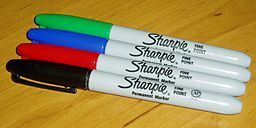 Coloured sharpie markers