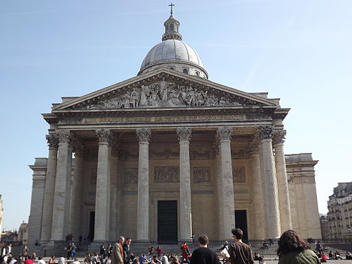 Facade of the Panthéon de Paris - 16 March 2012