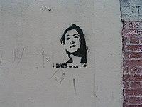 Grafitagem de Ingrid Betancourt em Paris.