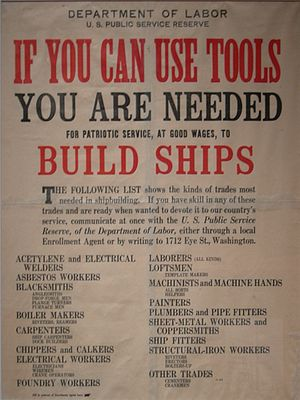 World War I-era poster from U.S. Department of...