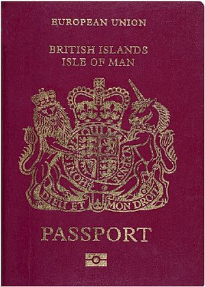 English: Passport of the Isle of Man