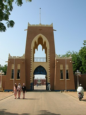 Gate to Emir's palace in Kano, Nigeria.