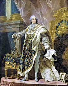 Portrait de Louis XV en costume de sacre par Louis-Michel van Loo.