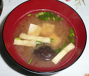 English: Japanese Miso Soup in Hamamatsu, Japan