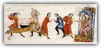 Persecution of monks from the Chronicle of Joh...
