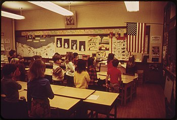 SECOND GRADERS PLEDGE ALLEGIANCE IN ROCKPORT E...
