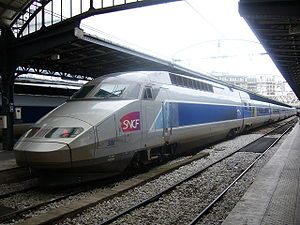 TGV Est in the Paris Est train station