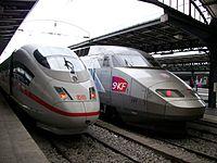 TGV Trenes de alta velocidad.