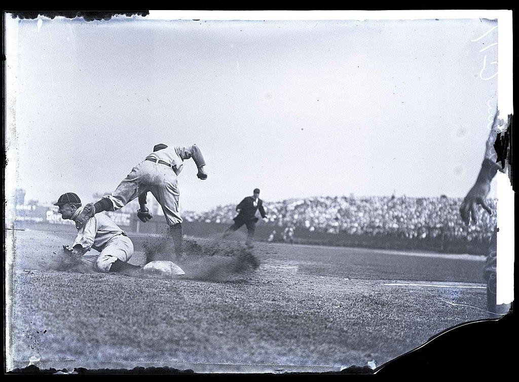 Ty Cobb sliding by Charles M Conlon, 1910