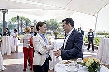 Brnabić with Macedonian Prime Minister Zoran Zaev during a meeting of Balkan leaders held in Durrës