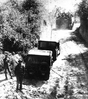 ACAV's OF SOUTH VIETNAMESE 1ST ARMORED BRIGADE...