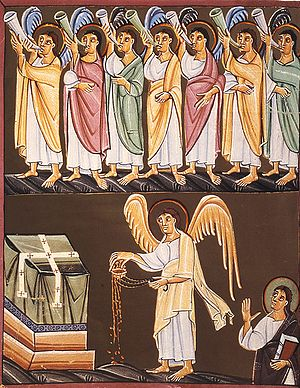 The Seven Trumpets and the angel with a censer