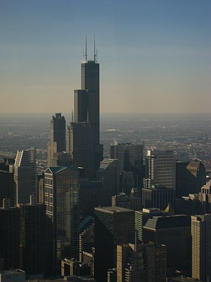Chicago - View of Sears Tower Willis Tower fro...