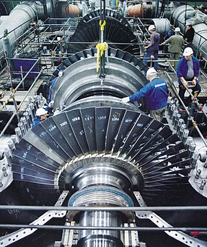 Mounting of a steam turbine produced by Siemen...