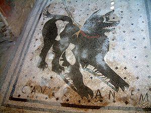 Cave canem mosaics ('Beware of the dog') were ...