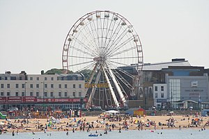 English: Ferris Wheel and Margate Beach