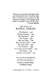 Khalil Gibran Le Prophète Pdf : khalil, gibran, prophète, PROPHET, KAHLIL, GIBRAN