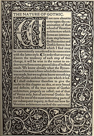English: Kelmscott Press - The Nature of Gothi...