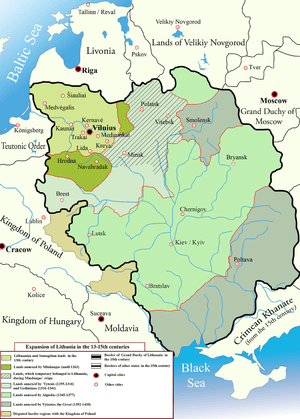 Lithuanian state in the 13-15th centuries