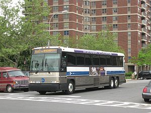 MTA Bus Company #3374 operates through Co-op C...