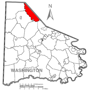 Map of Washington County higlighting Robinson ...