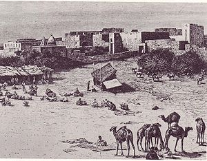 Market in Mogadishu around 1882