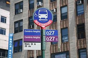 MTA bus Main Street and 39th Avenue, Flushing,...