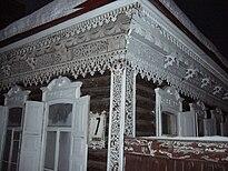 Una casa tradicional de Siberia  en Novosibirsk  Rusia